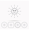 Sun rays icon Summer sign vector image