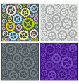 Seamless pattern of gears vector image