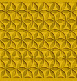 3d yellow seamless abstract geometric pattern vector image vector image
