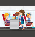 a service on the airplane vector image vector image