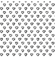 Abstract seamless heart pattern Hand draw heart vector image vector image