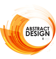 Abstract technology circles orange background vector image vector image