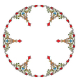 Antique ottoman turkish pattern design eleven vector image