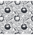 apple seamless pattern hand drawn garden fruit vector image