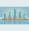 autumn city urban landscape buildings and vector image vector image
