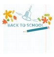 back to school notebook sheet vector image vector image