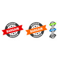 bargain stamp round ribbon sticker tag vector image vector image