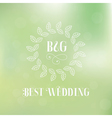 Best wedding label vector image
