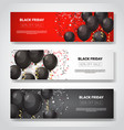 black friday special offer sale posters collection vector image vector image