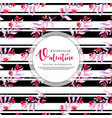 black stripe valentine background vector image