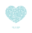 blue and white lace garden plants heart vector image vector image