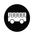 bus symbol icon vector image vector image