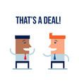 business people making a deal vector image