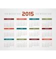 Calendar 2015 design template vector image vector image