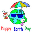 cartoon earth day style collection vector image vector image