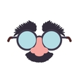 cartoon glasses nose face icon graphic vector image vector image