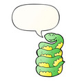cartoon snake and speech bubble in smooth vector image vector image