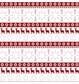 christmas seamless pattern winter holidays vector image
