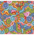 Colorful zentangle seamless pattern vector image vector image