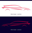 design sport car silhouette vector image vector image