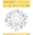 digital yellow startup business vector image vector image