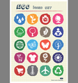 Eco elements and environment web icons set vector image vector image
