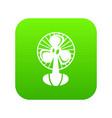fan icon green vector image