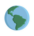 flat planet earth icon vector image vector image