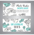gift certificate for photo studio or photographer vector image vector image