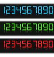 Glowing Digital Numbers vector image vector image