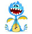 Happy Halloween cartoon blue dragon vector image vector image