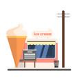 ice cream shop front
