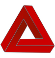 Impossible triangle vector image vector image