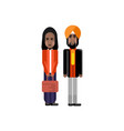 indian staff couple in national clothes vector image vector image