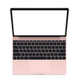 laptop pink mockup vector image vector image