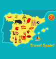 map of spain background design spanish vector image vector image