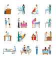 maternity hospital nursery set vector image