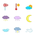 Meteorology template for app and web icons set vector image vector image