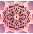 Ornament beautiful mandala chakra flower of pink vector image vector image