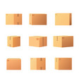 package boxes for things isolated icons set vector image vector image