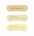 paper banner set vector image vector image