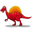 Red dinosaur with sharp claws vector image vector image