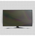screen lcd plasma isolated on checkered vector image