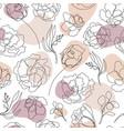 seamless hand drawn pattern single vector image vector image