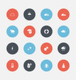 set of 16 editable air icons includes symbols vector image vector image