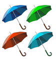 set of colorful umbrellas isolated on white vector image