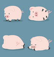 set of cute little pig vector image