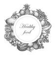 sketch hand drawn fruit nutrition vector image vector image