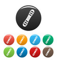 snowboard icons set color vector image