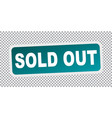 sold out flat vector image